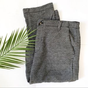 Anthropologie | cartonnier tweed button fly pant